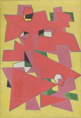 Jozef Jarema (1900 - 1974) Abstract Composition; Oil On