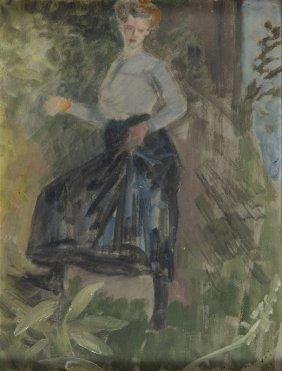 Jacek Malczewski (1854 - 1929) Portrait Of Woman, 1909,