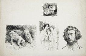 Jan Styka (1858 - 1925) Portrait Of Adam Mickiewicz,