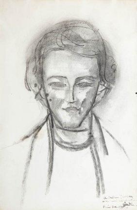 Zygmunt Landau (1898 - 1962) Portrait Of Wladyslawa