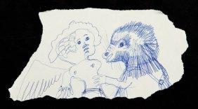 Jan Lebenstein (1930 - 1999) Untitled, Pen On Paper, 10