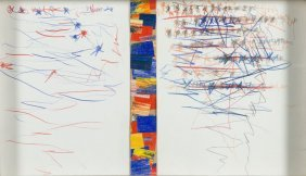 Tomasz Ciecierski (b. 1945) Untitled, Collage, Crayon