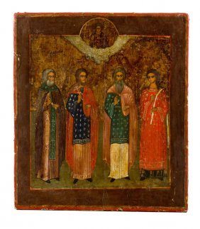 Four Saints, Icon, Russia, Late 19th/early 20th