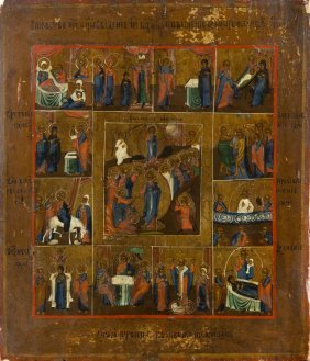 The Resurrection Of Christi And 12 Calendar Feasts