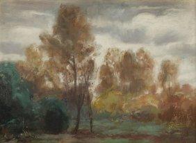 """Piotr Hipolit Krasnodebski (1876 - 1928), """"autumn"""","""