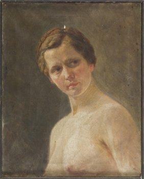 Jan Berger (1863 - 1930), Nude, 1914, Oil On Canvas, 54