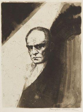 Franciszek Siedlecki (1867 - 1934) Portrait Of Stefan