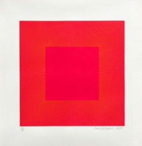 Richard Anuszkiewicz (b. 1930) Spring Suite (pink On