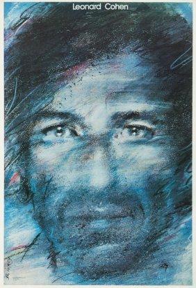 Waldemar Swierzy (1931 - 2013) Leonard Cohen, 1985;