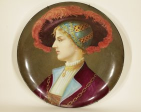 19/20th C. French Hand Painting Porcelain Charger