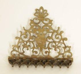 17th C. Brass Menorah Italy