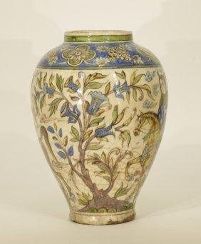 Earl 19th C. Persian Pottery Vase