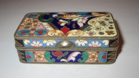 Antique Russian Silver Enamel Snuff Box