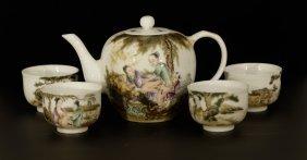 Set Of Porcelain Teapot & Cup
