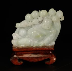 Chinese Jadeite Carved Buddha