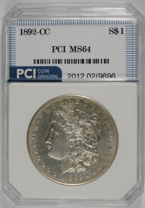 1892-cc Morgan Silver Dollar, Pci Gem Bu