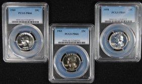 Pcgs Graded Proof Washington Quarters: 1958 Pr-66, 1960