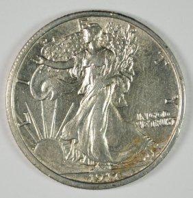 1917 Walking Liberty Half Dollar Au/unc