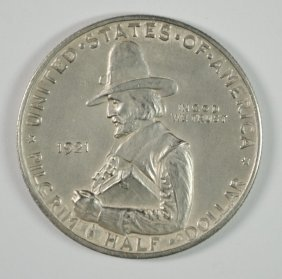 1921 Pilgrim Commemorative Half Dollar, Choice Bu