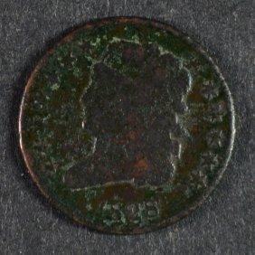 1828 Half Cent - Vg Dark