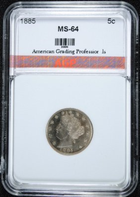 1885 Liberty Nickel Agp Ch Bu