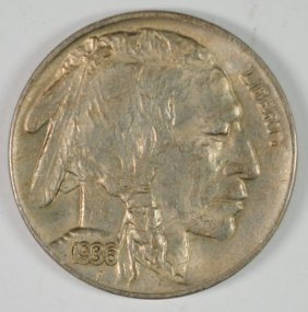 1936-d Buffalo Nickel, Choice Bu