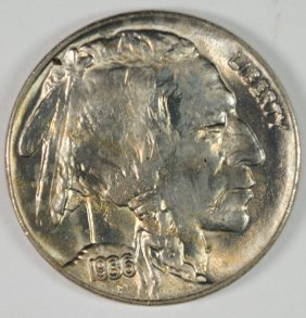 1936 Buffalo Nickel, Gem Bu+ Blazer!