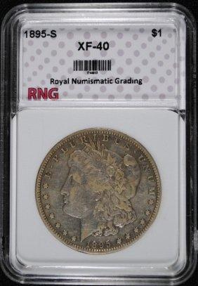 1895-s Morgan Dollar Rng Graded Ef