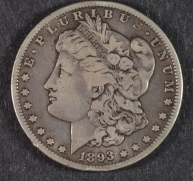 1893-s Morgan Silver Dollar, Vf++