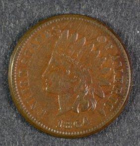 1864-l Indian Head Cent Au Key Date