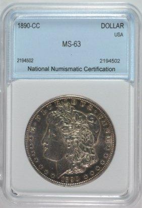1890 Cc Morgan Dollar Nnc Ch Bu