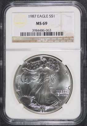 1987 Silver Eagle Ngc Ms 69