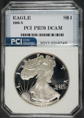 1986-s American Silver Eagle Pci Graded Perfect Proof