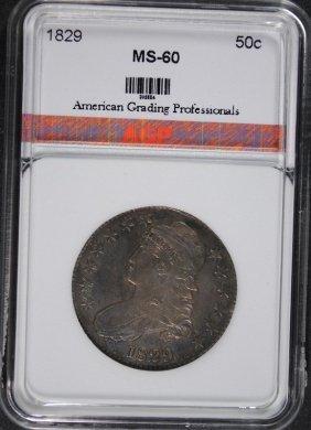 1829 Bust Half Dollar, Agp Uncirculated