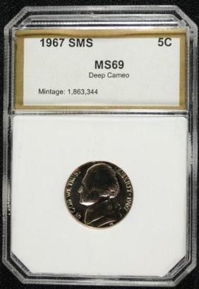 1967 Sms Jefferson Nickel Pci Superb Gem+ Deep Cameo!