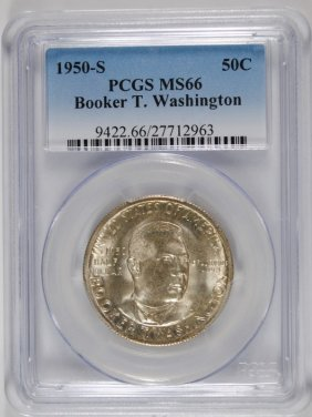 1950-s Booker T Washington Pcgs Ms66 Pcgs Price Guide