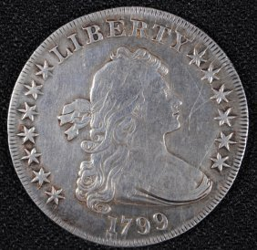 1799 Draped Bust Dollar Vf/xf