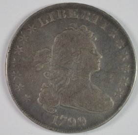 1799 Draped Bust Dollar Vf