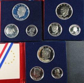 (3) 1976 3 Pcs Proof Silver Sets