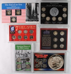Modern Dime Lot: ( 27 ) Silver & ( 5 ) Clad All In