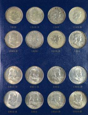 1948-63 Franklin Half Dollar Set All Unc/ch Bu With