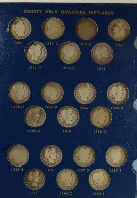 Barber Quarter Set Missing Only The 1901-s & 1913-s (