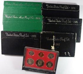 Proof Set Lot; 1997, 1996, 1982, 1980, 1976, 1975, 1974