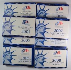 U.s. Proof Sets: 2001 ( 2 ) 2005, ( 4 ) 2007 ( Missing