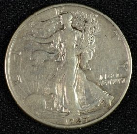 1927-s Walking Liberty Half Dollar Xf Scarce