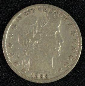 1899 Barber Half Dollar F-vf