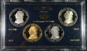 Rare! 1987 French Paris 4-coin Lafayette Proof Set#2972