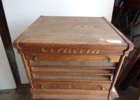 Corticelli Oak 5 Drawer Spool Cabinet