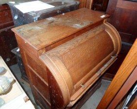 Oak Cylinder Desk