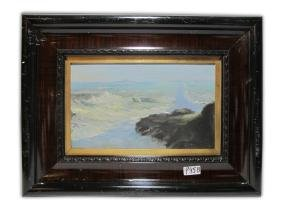 Antique Oil On Board Landscape Painting. Signed
